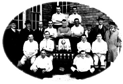 Clitheroe FC 1935 - winners of the Lancashire Combination Cup (Photo courtesy of Pye's of Clitheroe)